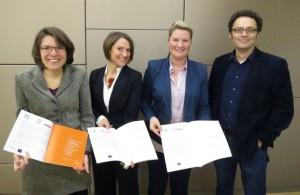 Die StudienautorInnen v.l.n.r. Maria Grundner, Doris Ossberger, Andrea Ludwig, Volker Frey
