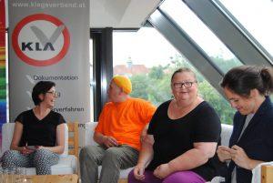 DanielaAlmer_AlexJürgen_LucieVeith_EvaMatt bei der Diskussion über Rechte von intergeschlechtlichen Personen.