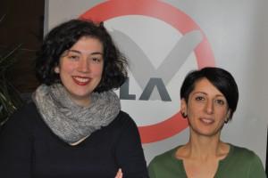 Auf dem Foto sieht man die neuen Vorstandsmitglieder Valerie Purth und Sepideh Hassani