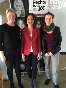 Auf dem Bild v.l.n.r.: Andrea Ludwig, Julia Stadlbauer, Kristina Hametner