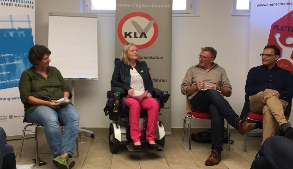 v.l.n.r.: Barbara Sieberth, Monika Schmerold, Georg Wimmer, Volker Frey