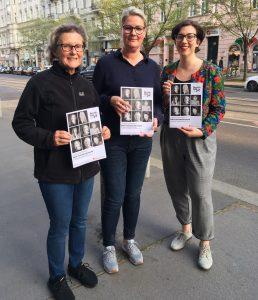 Auf dem Bild v.l.n.r.: Brigitte Hornyik, Andrea Ludwig, Valerie Purth