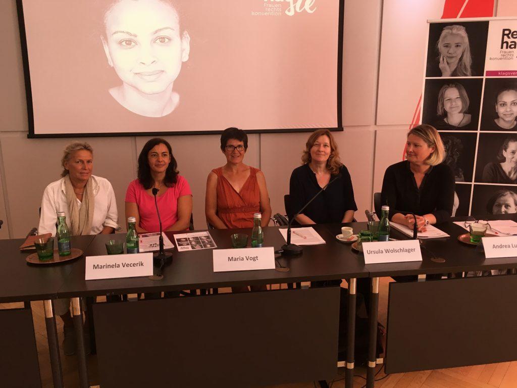 v.l.n.r.: Nicola Werdenigg, Marinella Vecerik, Maria Vogt, Ursula Wolschlager, Andrea Ludwig